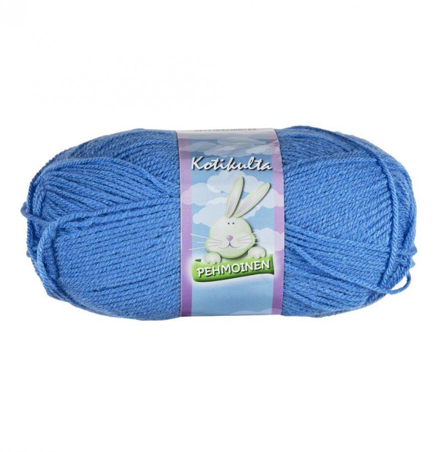 Kotikulta Pehmoinen Sininen Lanka 100 G