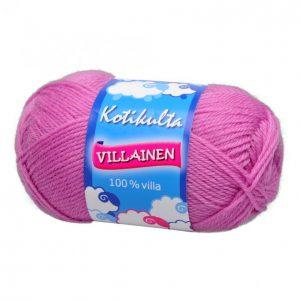 Kotikulta Villainen Pinkki Lanka 50 G