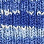 Novita 7 Veljestä Polkka Sininen-Luonnonvalkoinen Lanka