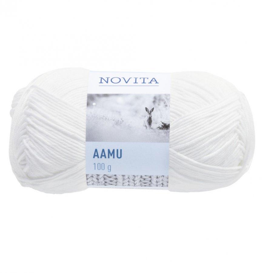 Novita Aamu Valkoinen 011 Lanka 100 G