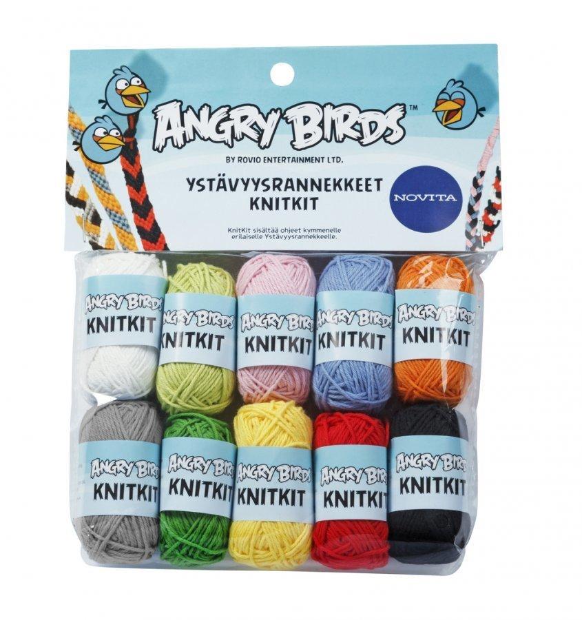 Novita Angry Birds Ystävyysrannekkeet Knitkit Lanka