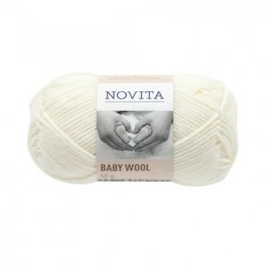 Novita Baby Wool Valkoinen Lanka 50 G