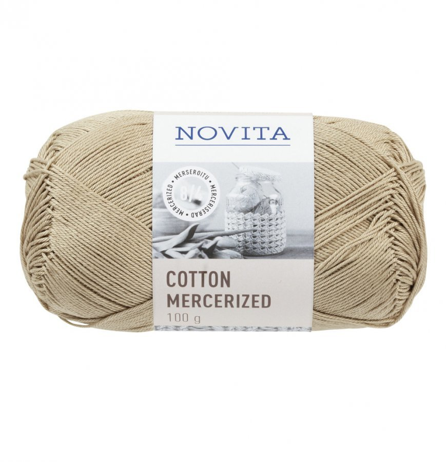 Novita Cotton Mercerized Aavikko Lanka 100 G