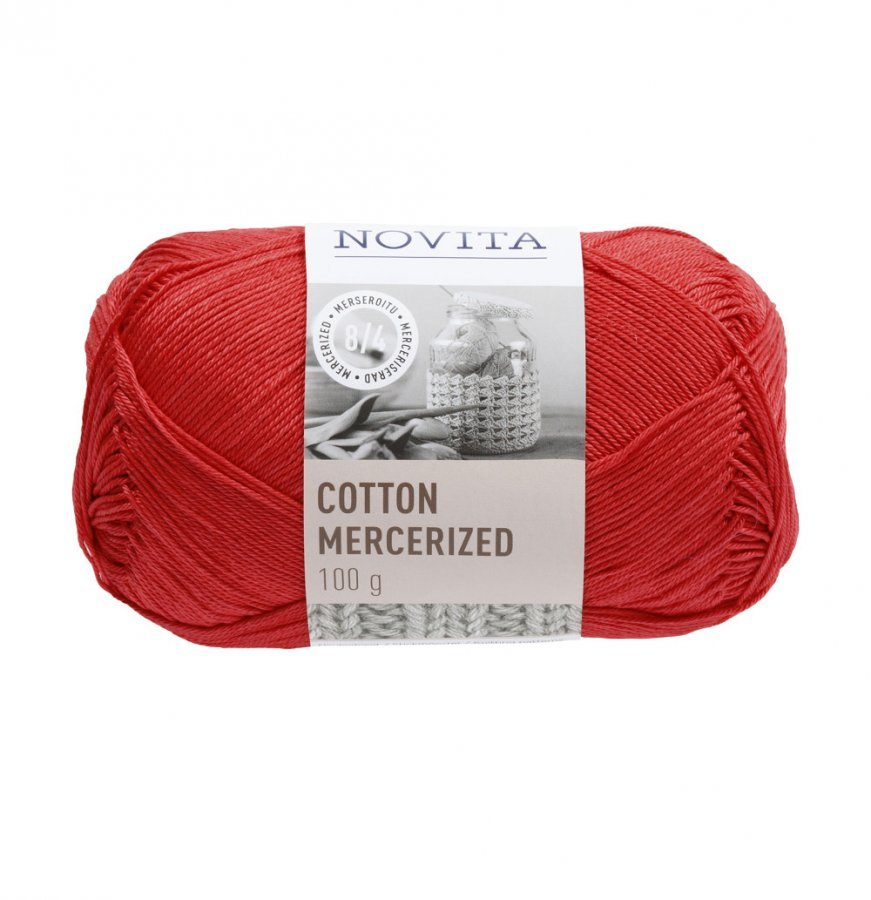 Novita Cotton Mercerized Vadelma Lanka 100 G