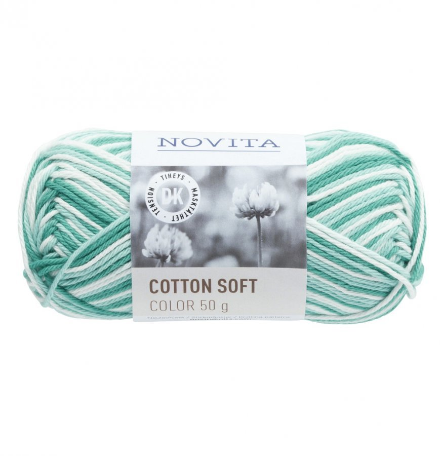 Novita Cotton Soft Color Laguuni 831 Lanka 50 G