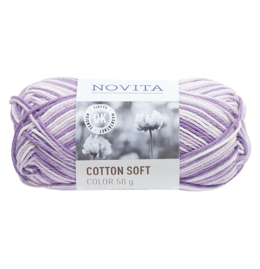 Novita Cotton Soft Color Syreeni 870 Lanka 50 G