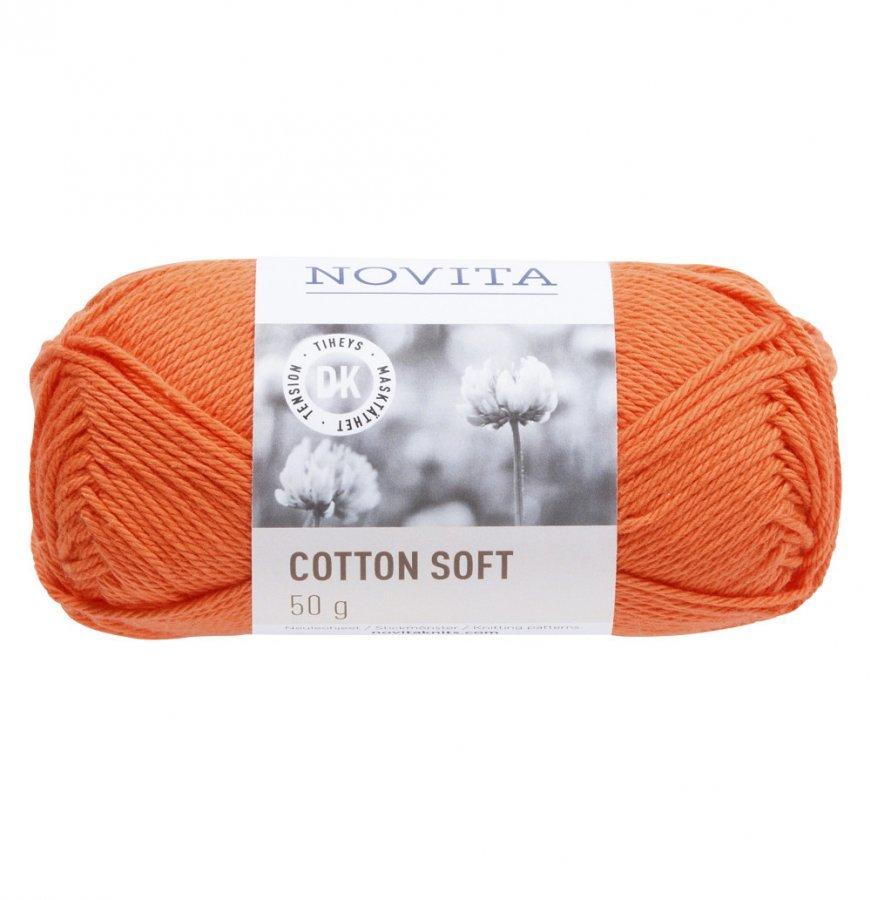 Novita Cotton Soft Mandariini 279 Lanka 50 G