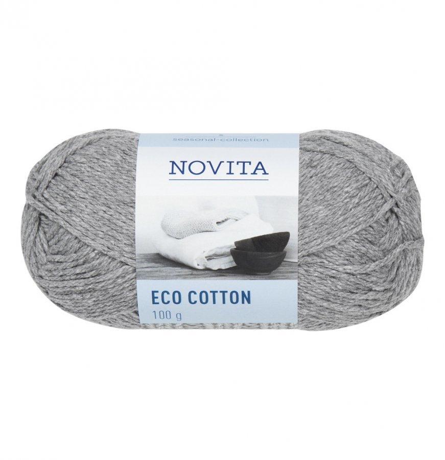 Novita Eco Cotton Meleerattu Harmaa Lanka 100 G