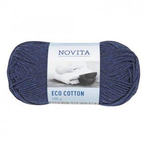 Novita Eco Cotton Tummansininen Lanka 100 G
