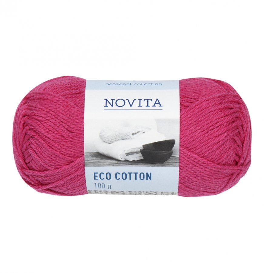 Novita Eco Cotton Vadelma Lanka 100 G