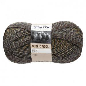 Novita Nordic Wool Flow Khaki Lanka 100 G
