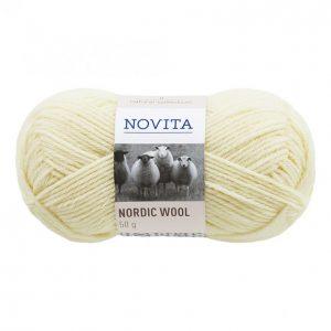 Novita Nordic Wool Luonnonvalkoinen Lanka 50 G