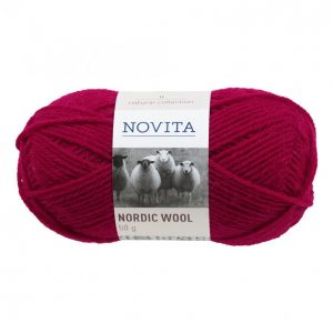 Novita Nordic Wool Tummanpunainen Lanka 50 G